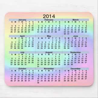 2014 Pastel Wave Mousepad