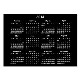 2014 Pocket Calendar Business Card Templates