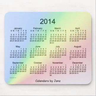 2014 Rainbow Calendar Mouse Pads