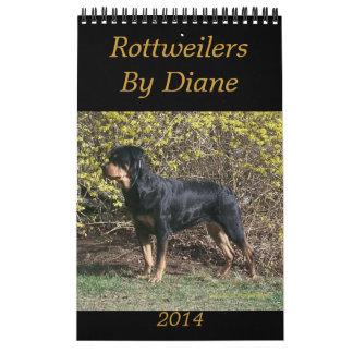 2014 Rottweilers By Diane Calendar