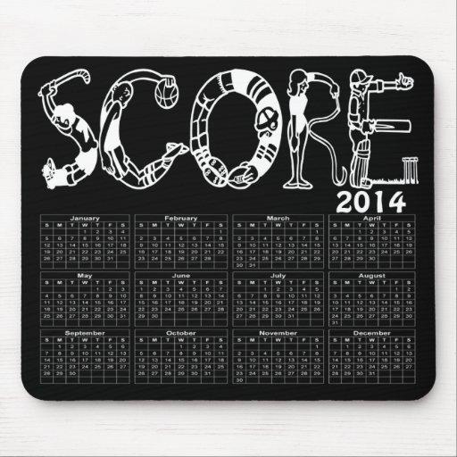 2014 Score Sports Calendar Mouse Pad