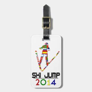 2014: Ski Jump Luggage Tag