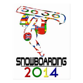 2014 Snowboarding Post Card