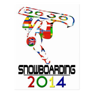 2014: Snowboarding Postcard