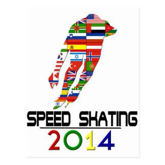 2014: Speed Skating Postcard
