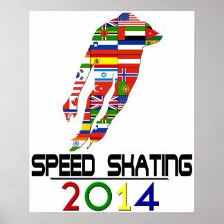 2014: Speed Skating Poster