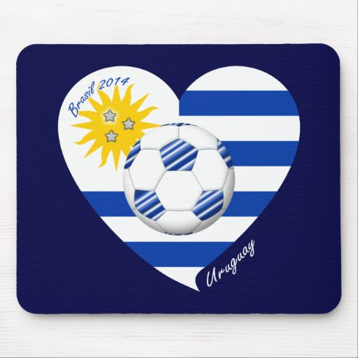 2014 URUGUAY SOCCER flag sun of May and ball Mouse Pads