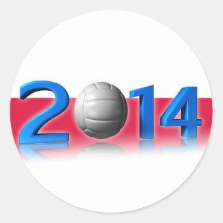 2014 Volley balls World Championship Round Sticker