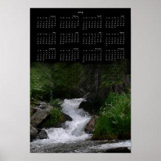 2014 Waterfall Calendar Print