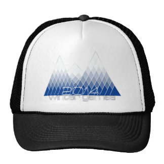 2014 Winter Games Abstract Mountains Hats