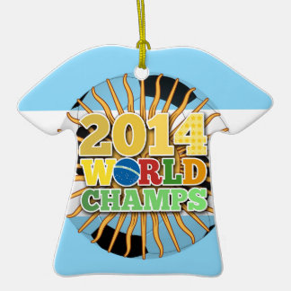 2014 World Champs Ball - Argentina Christmas Ornament