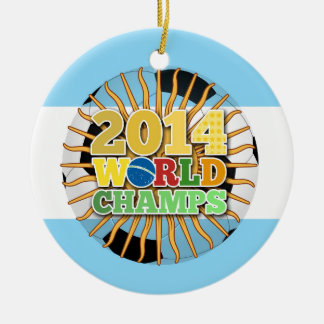 2014 World Champs Ball - Argentina Ornament
