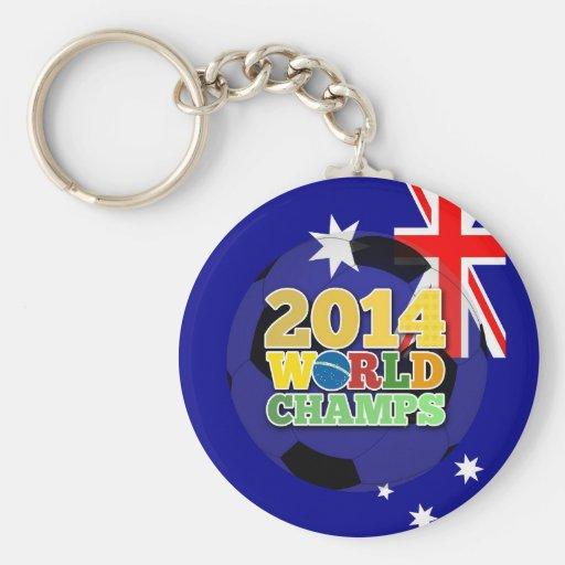 2014 World Champs Ball - Australia Keychain