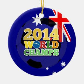 2014 World Champs Ball - Australia Round Ceramic Decoration
