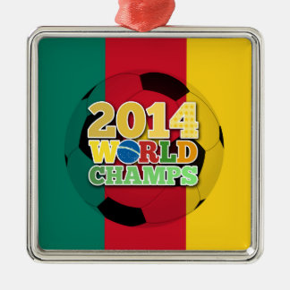 2014 World Champs Ball - Cameroon Silver-Colored Square Decoration
