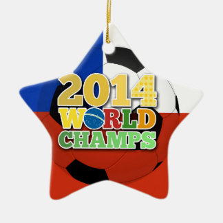2014 World Champs Ball - Chile Ceramic Star Decoration