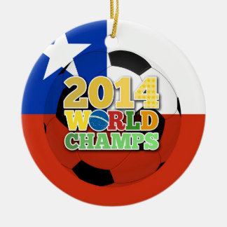 2014 World Champs Ball - Chile Christmas Ornament
