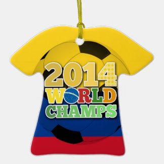 2014 World Champs Ball - Colombia Christmas Ornaments