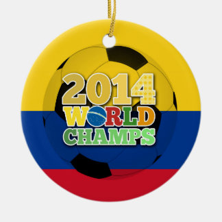 2014 World Champs Ball - Colombia Round Ceramic Decoration