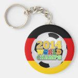 2014 World Champs Ball Germany Basic Round Button Key Ring