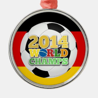 2014 World Champs Ball Germany Silver-Colored Round Decoration