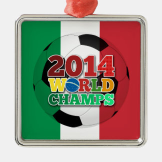 2014 World Champs Ball - Italy Silver-Colored Square Decoration
