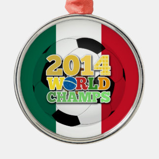 2014 World Champs Ball - Mexico Silver-Colored Round Decoration