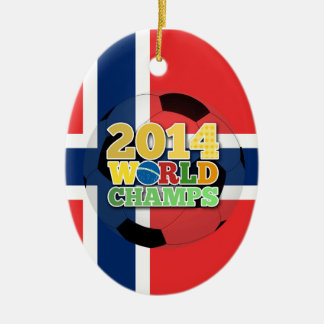 2014 World Champs Ball - Norway Ceramic Oval Decoration