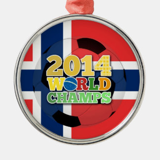 2014 World Champs Ball - Norway Silver-Colored Round Decoration
