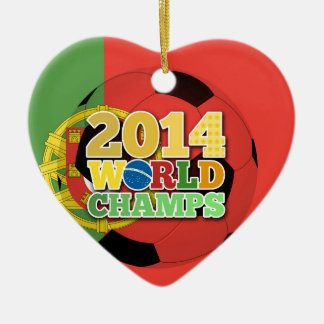 2014 World Champs Ball - Portugal Ceramic Heart Decoration