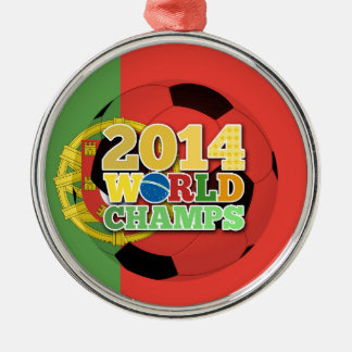 2014 World Champs Ball - Portugal Silver-Colored Round Decoration