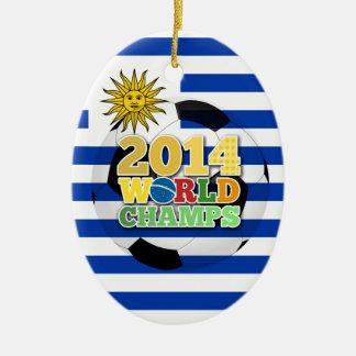 2014 World Champs Ball - Uruguay Ceramic Oval Decoration