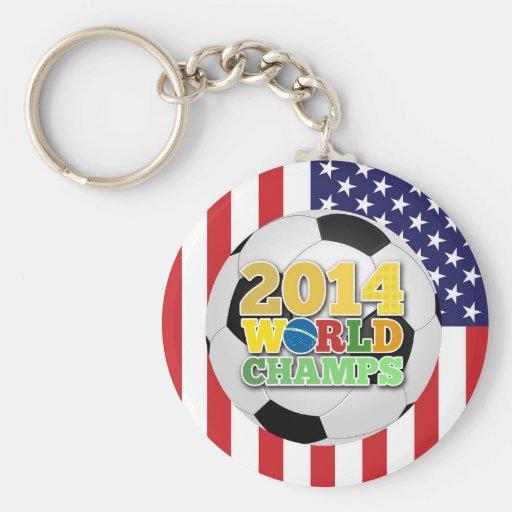 2014 World Champs Ball - USA Keychain
