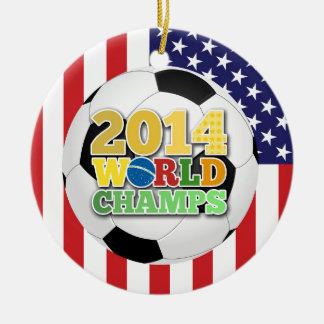 2014 World Champs Ball - USA Round Ceramic Decoration