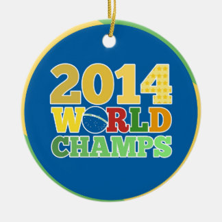 2014 World Champs - Bra Round Ceramic Decoration