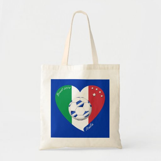 2014 world-wide SOCCER of ITALY flag and blue ball Bag