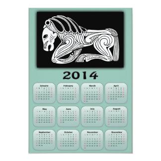 2014 Year of Horse calendar with Scythian horse Card