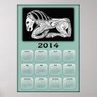 2014 Year of Horse calendar with Scythian horse Poster