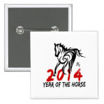 2014 Year of The Horse 15 Cm Square Badge