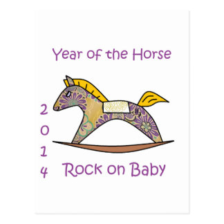 2014 Year of the Horse - Purple Postcard