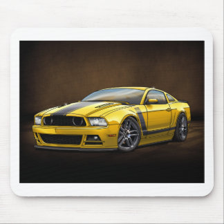 2014 Yellow Boss 302 Mouse Pad