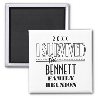 2015-16 DATED FUNNY FAMILY REUNION SQUARE ONLY SQUARE MAGNET
