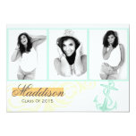 2015 Anchor Graduation Announcement Flat Card 13 Cm X 18 Cm Invitation Card