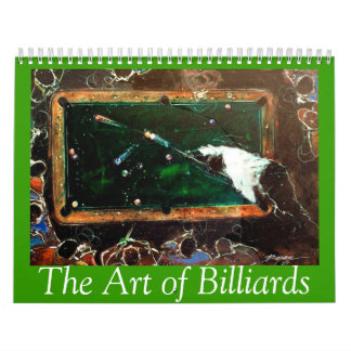 2015 Art of Billiards Wall Calendars
