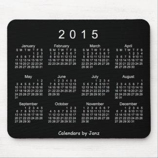 2015 Black Calendar by Janz Mousepad