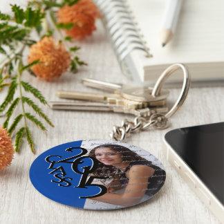 2015 Blue Graduation Keepsake Basic Round Button Key Ring