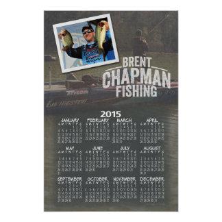 2015 Brent Chapman Bass Fishing Full Year Calendar