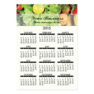 2015 Business Card Calendar Fresh Produce