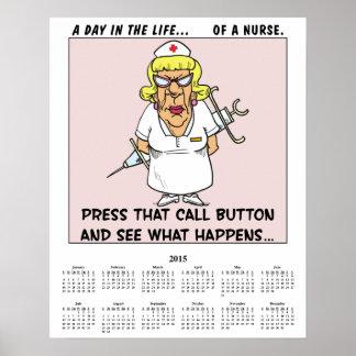 2015 Calendar Angry Nurse Poster