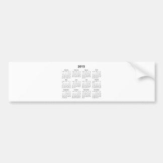 2015 Calendar Bumper Stickers
